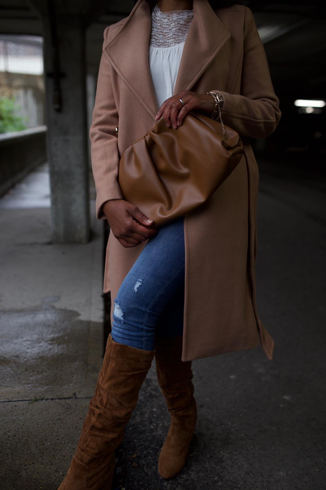 Camel Coat for a Casual Fall Look