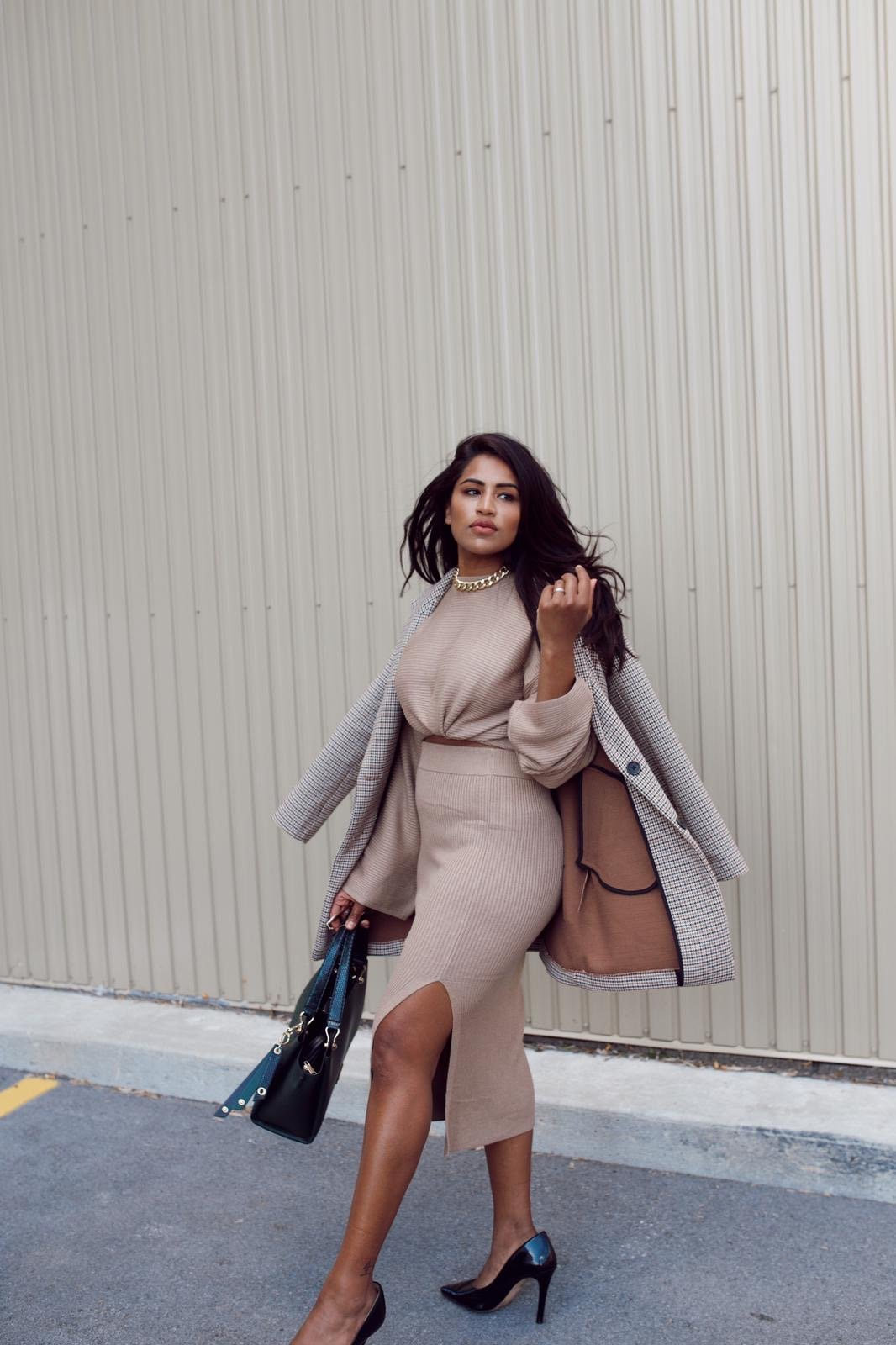 Co-Ord Outfit with a Coat