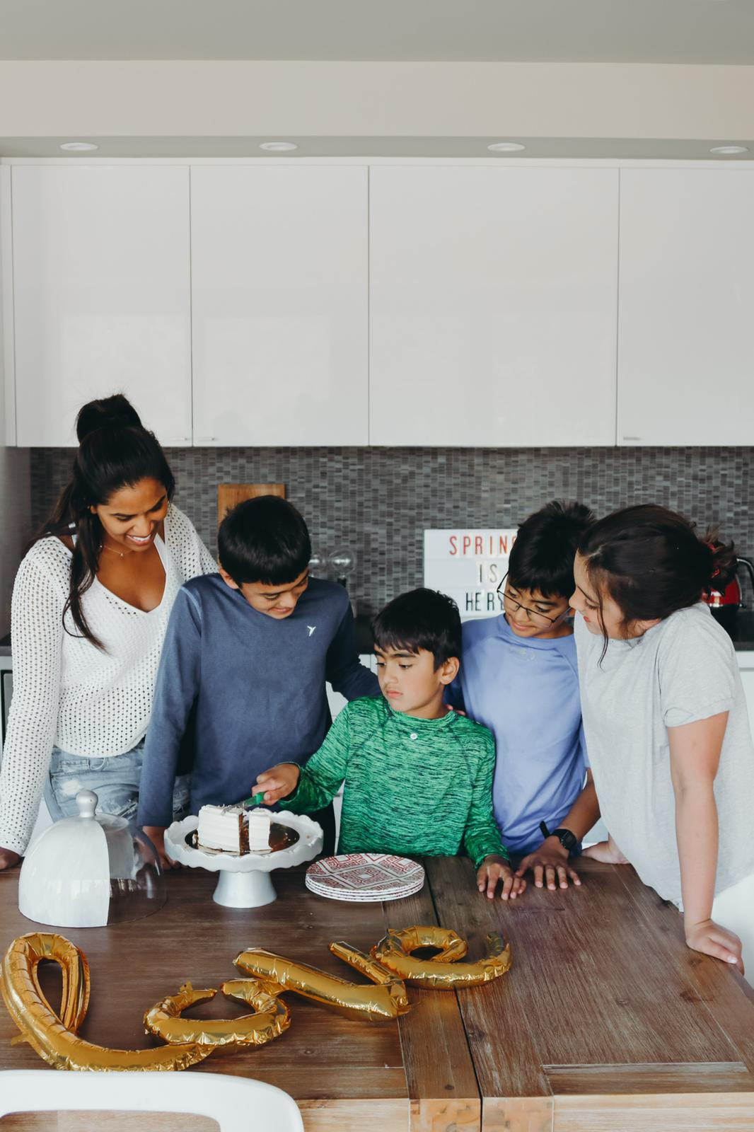 In the kitchen with the kids!